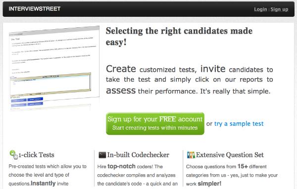 Interviewstreet.com – hurtige test af jobkandidater