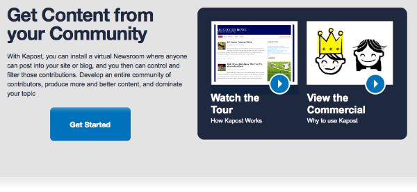 Kapost – ny smart tjeneste giver dig indhold til din blog