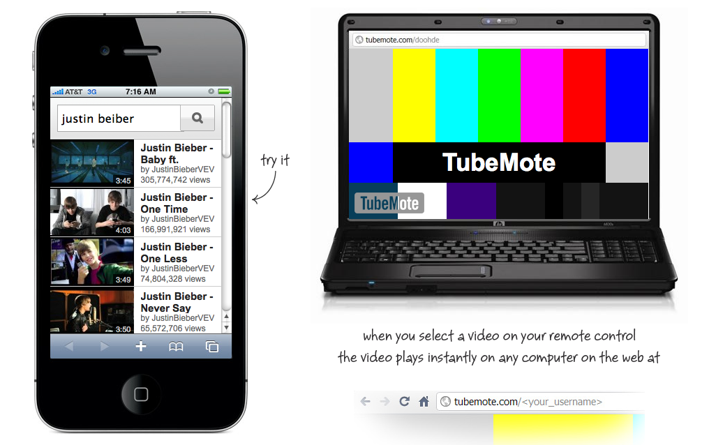 Tubemote – Fjernbetjen Youtube fra din Smartphone