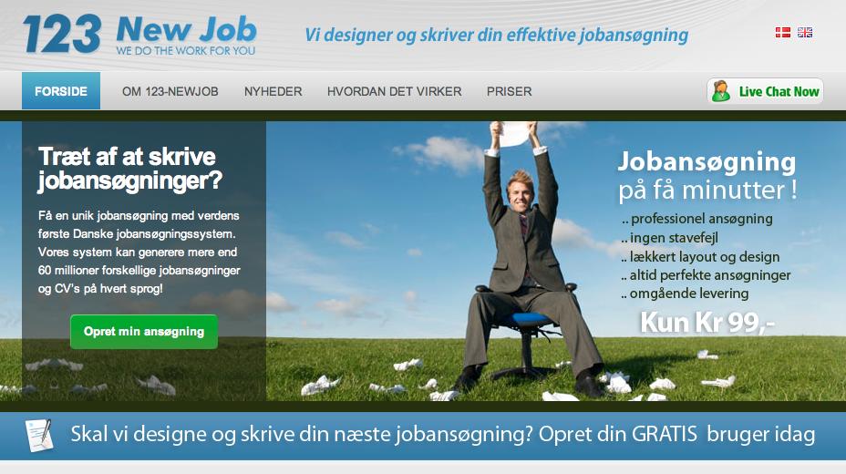 123-newjob – hurtige og nemme jobansøgninger