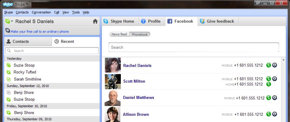 Samarbejde mellem Skype og Facebook