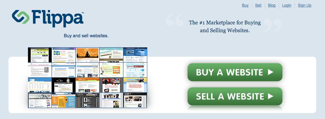 Flippa køb og sælg hjemmesider
