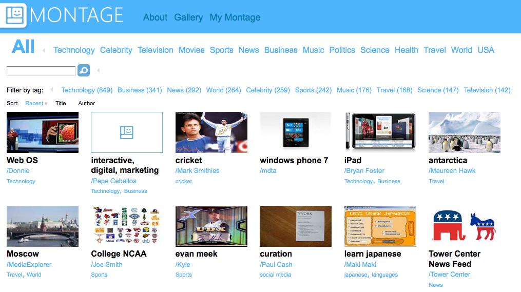 Montage – Det glittede webmagasin