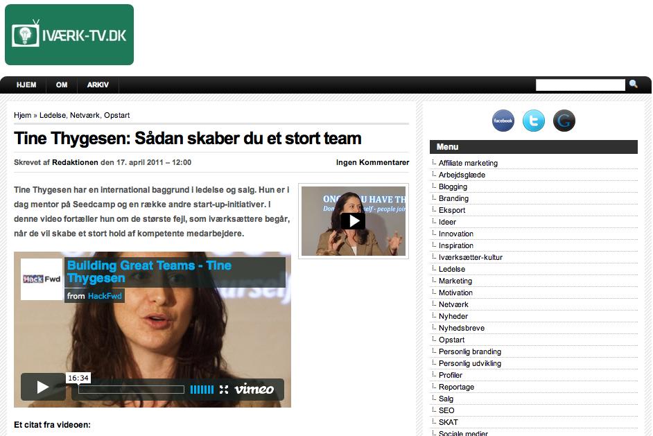 Interview med Iværk-TV – Casper Lohse