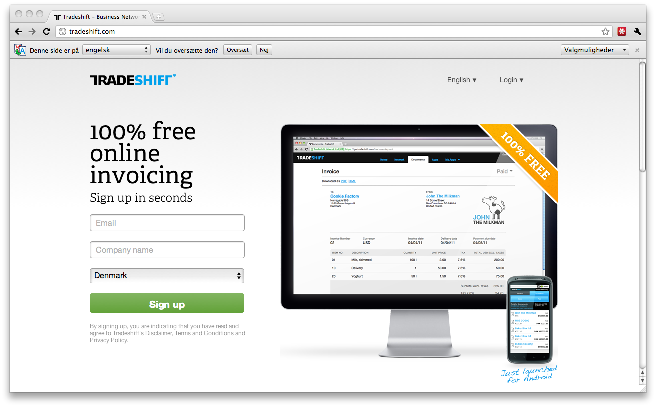 Update – Tradeshift flyver derudaf