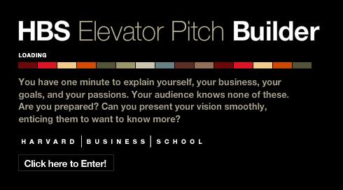 Få hjælp fra Harvard til at bygge din elevator pitch