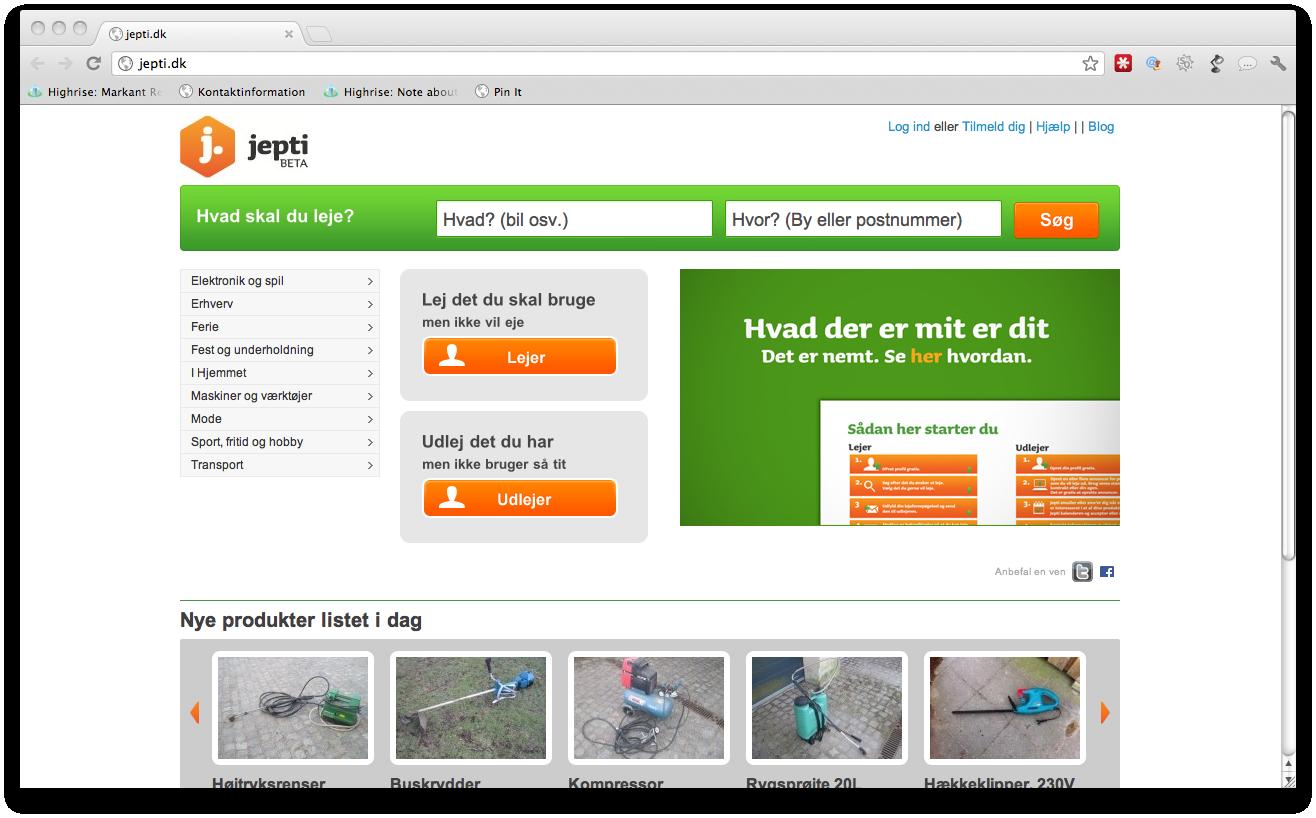 Jepti.dk – Et nemt sted at leje og udleje alt det du ikke bruger