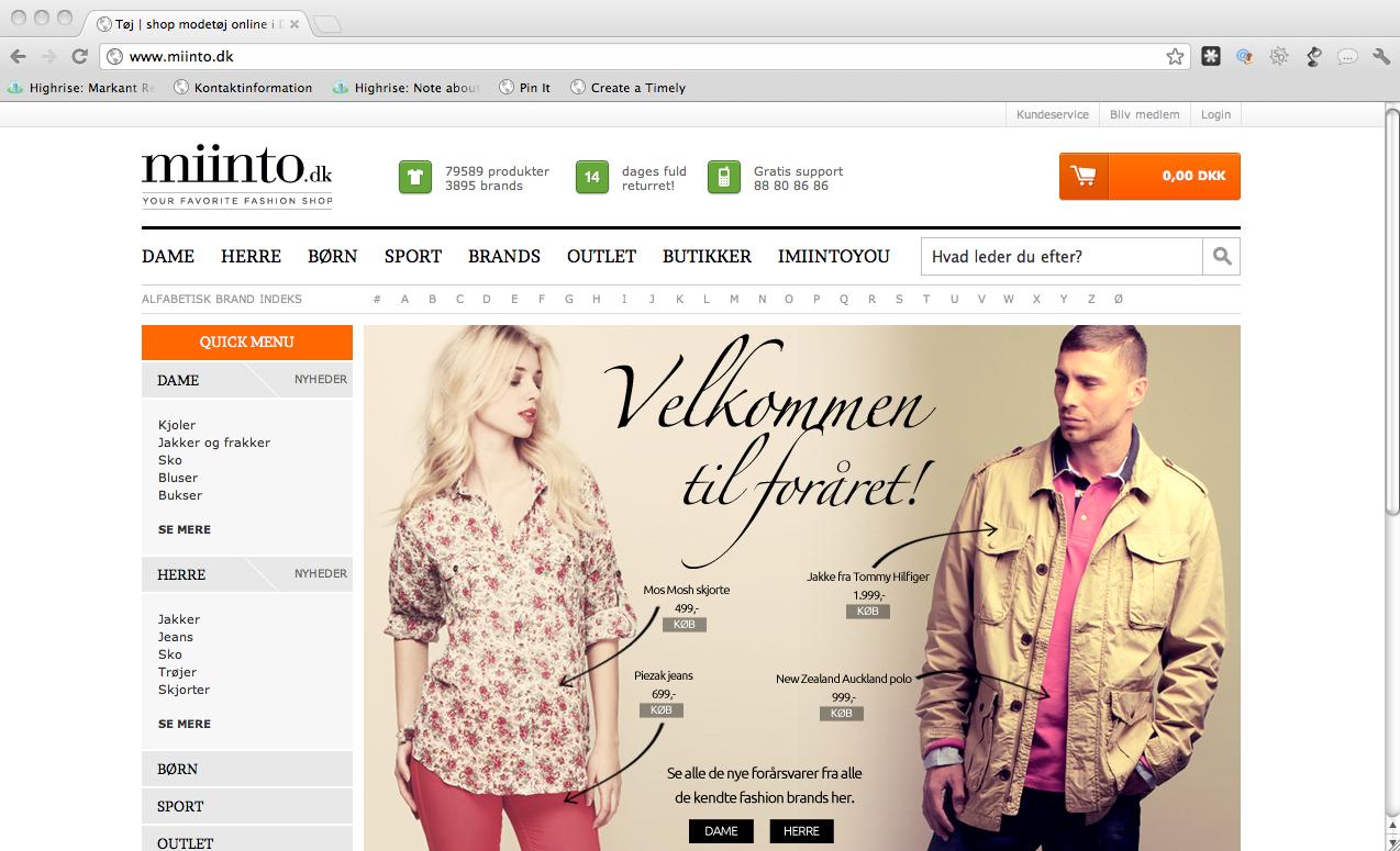 Miinto.com går ind i Holland i samarbejde med mediegiganten RTL