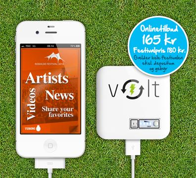 Dansk startup lader dig og din smartphone op på Roskilde Festival