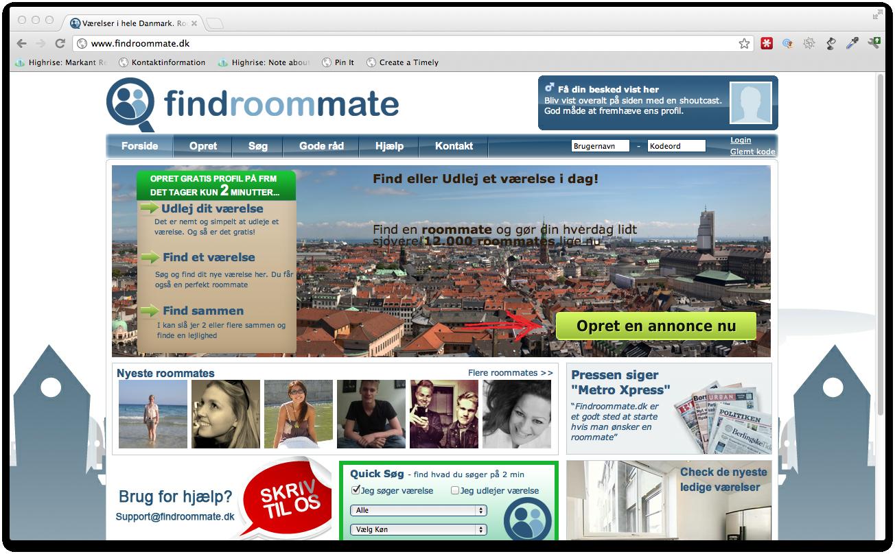 Freeway køber sig ind i Findroommate.dk