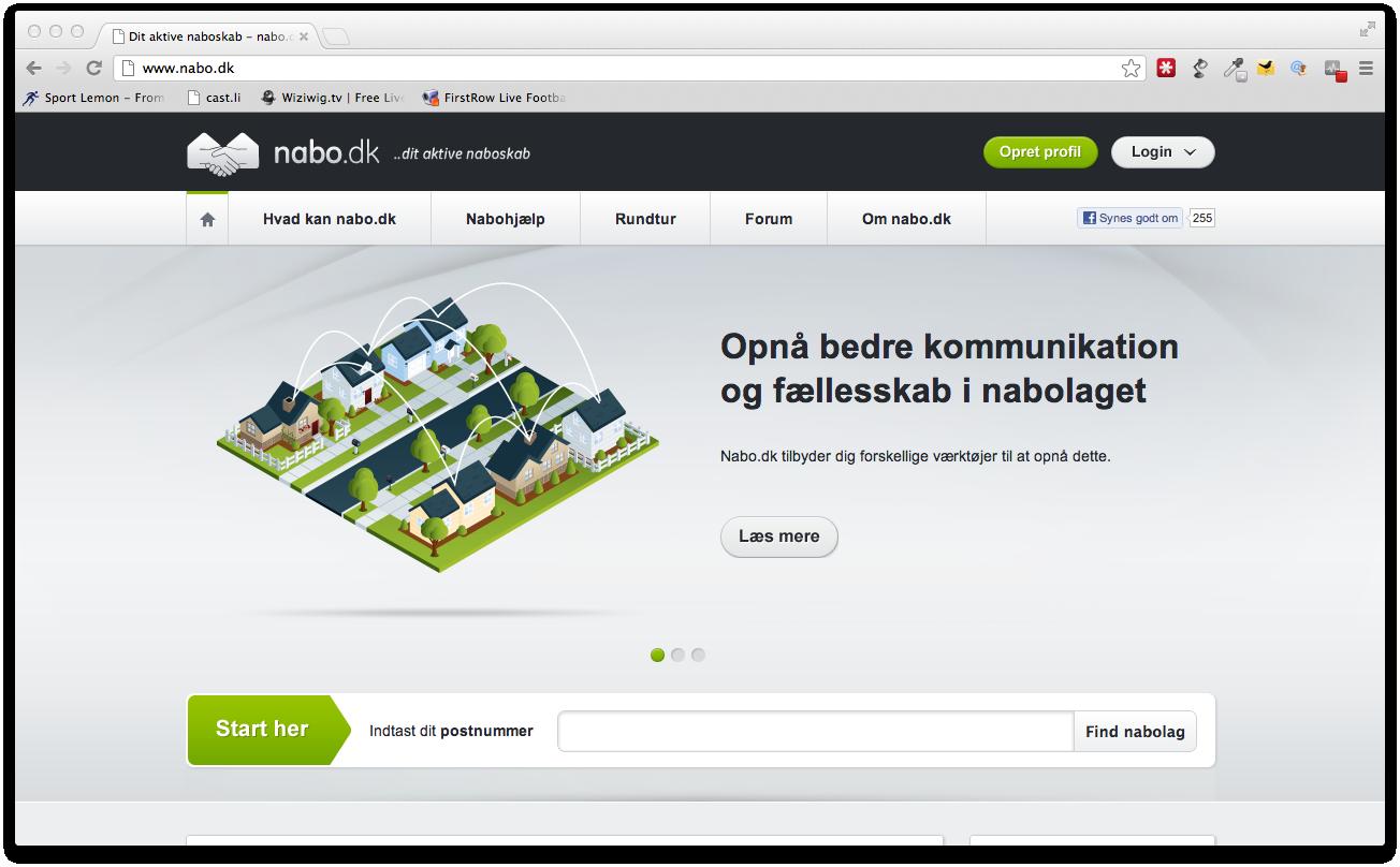 Det gode naboskab begynder på Nabo.dk