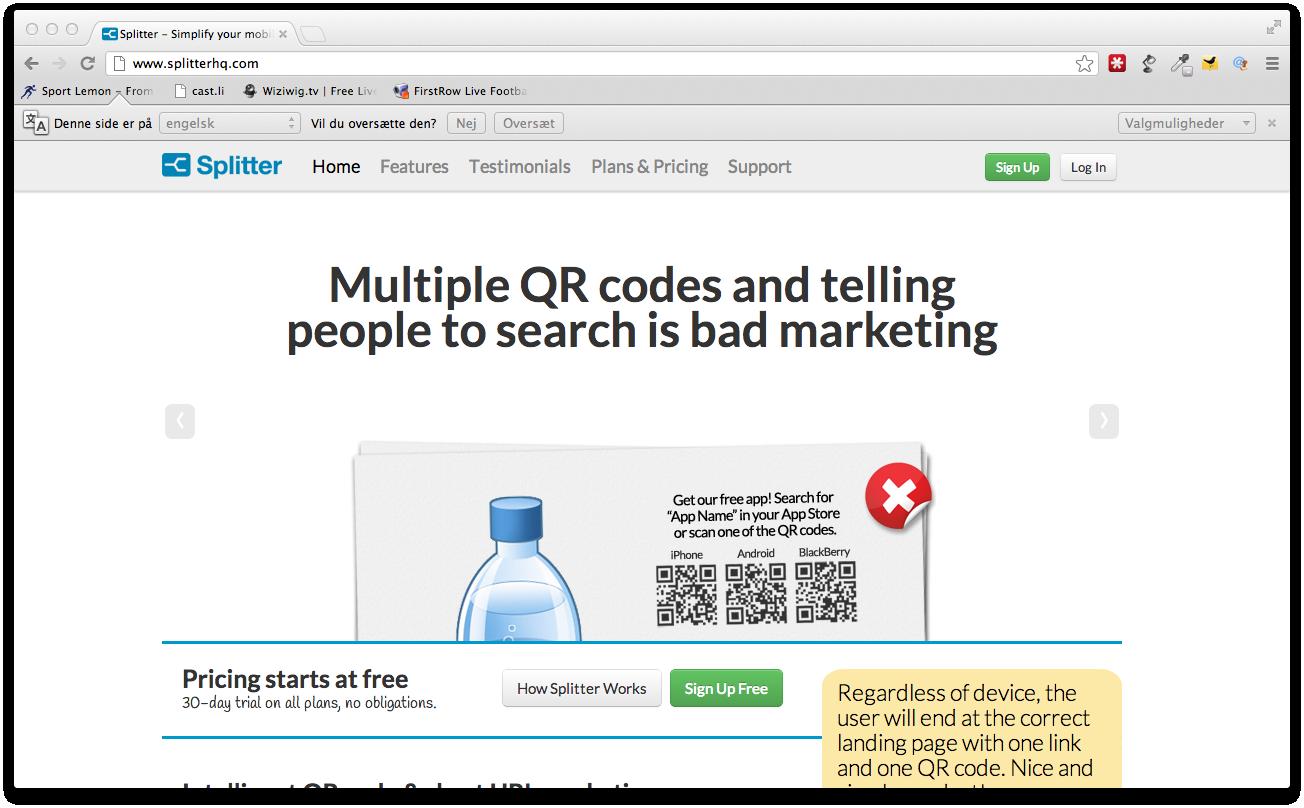Splitter hjælper med at markedsføre din app