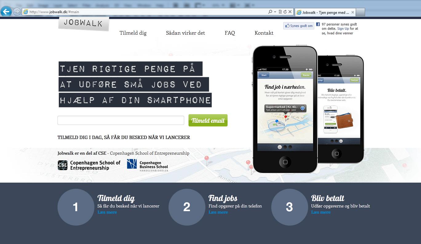 Det nye danske <br>startup Jobwalk crowdsourcer småopgaver