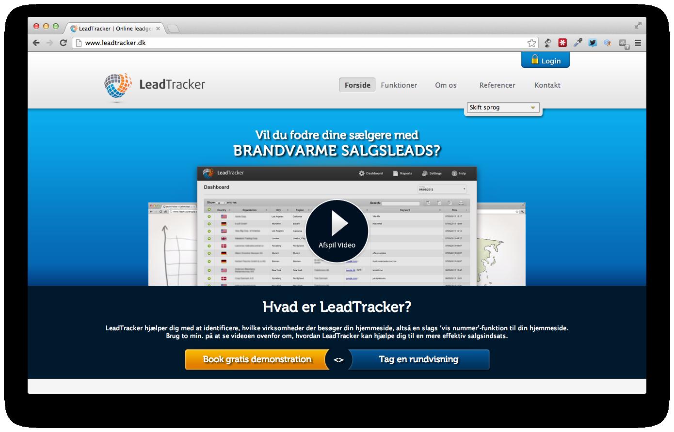 Leadtracker giver dig varme kundeemner i inboxen hver dag