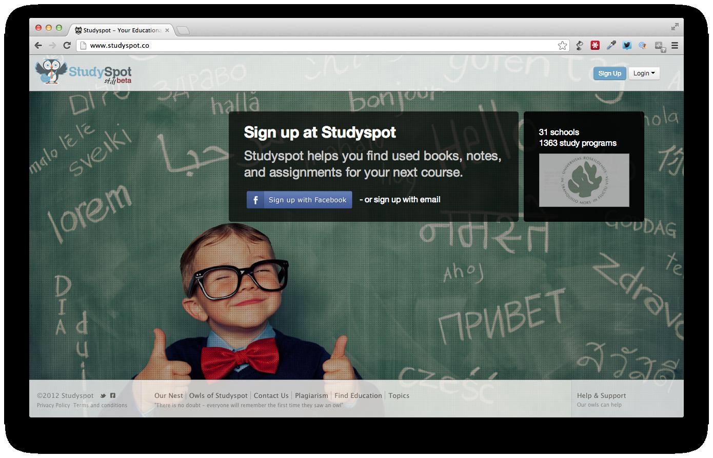 StudySpot: en online vidensportal for studerende