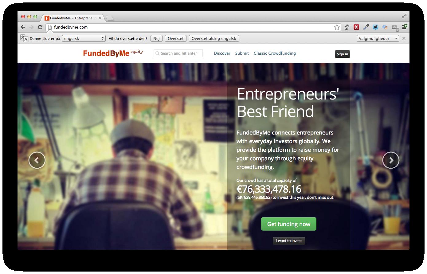 Det svenske startup Fundedbyme når investerings milepæl