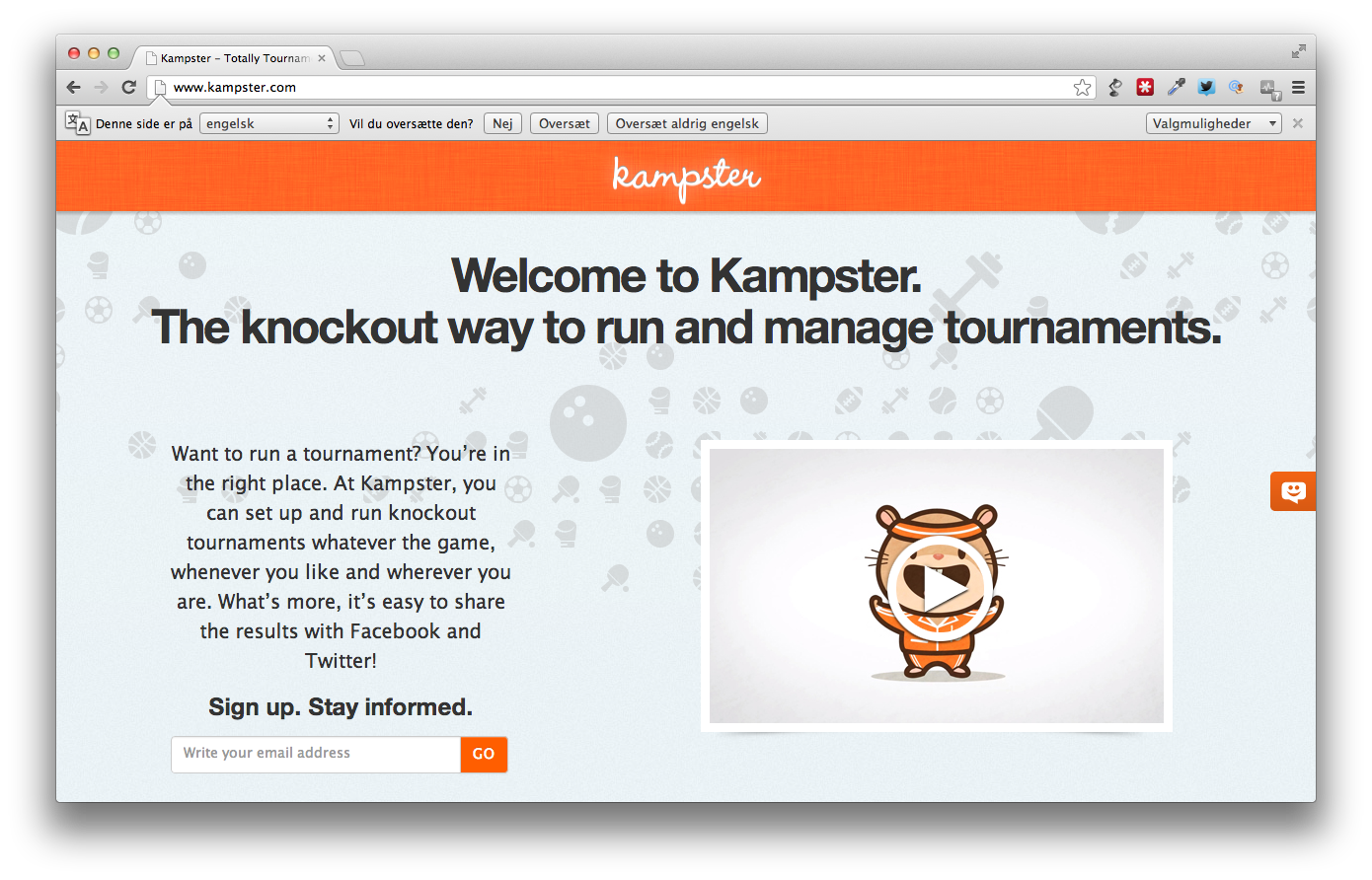 Kampster – en online platform for konkurrencer og turneringer