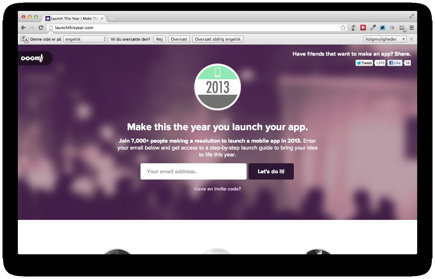 Launch This Year – lav en mobilapp i 2013