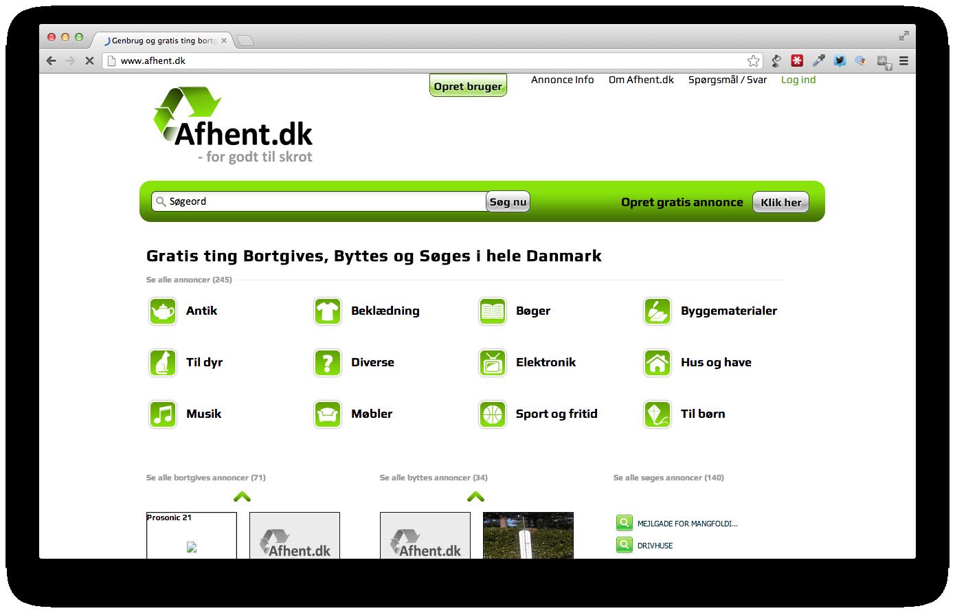 Afhent.dk – for godt til skrot!