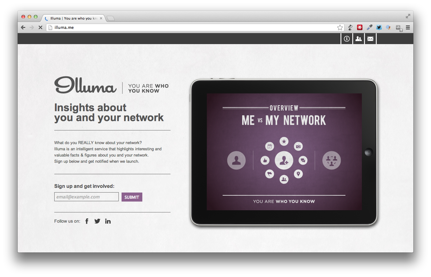 Illuma.me visualiserer dit sociale netværk i infographics