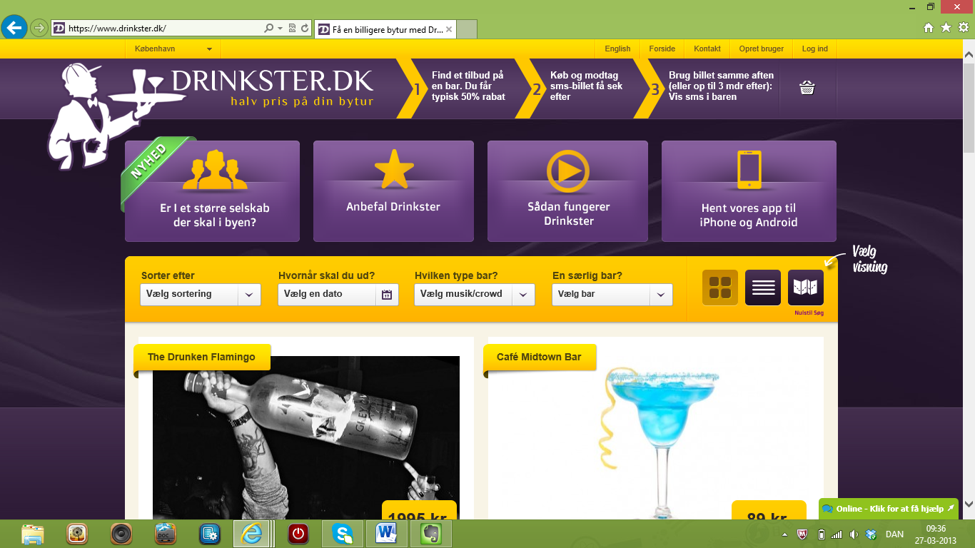 2 mio. genstande solgt på Drinkster.dk