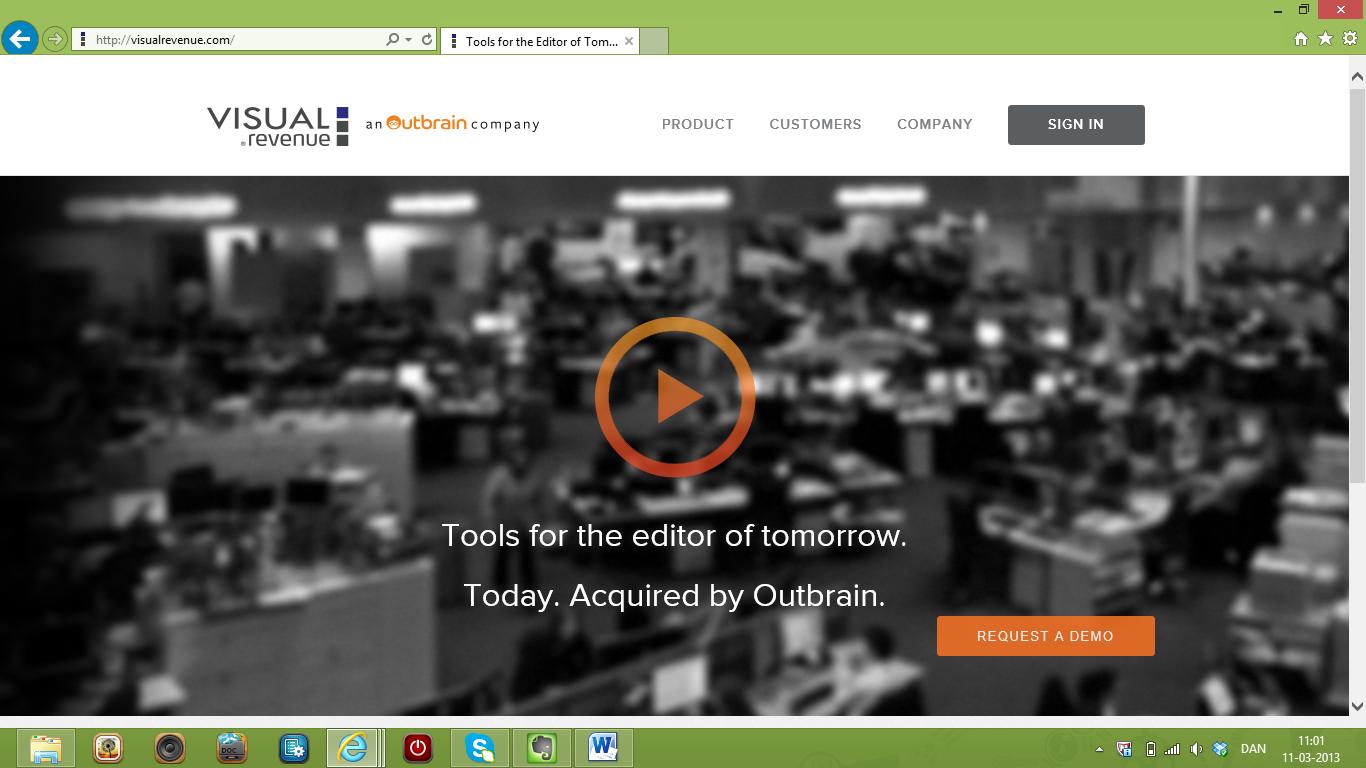 Visual Revenue opkøbt af amerikanske Outbrain