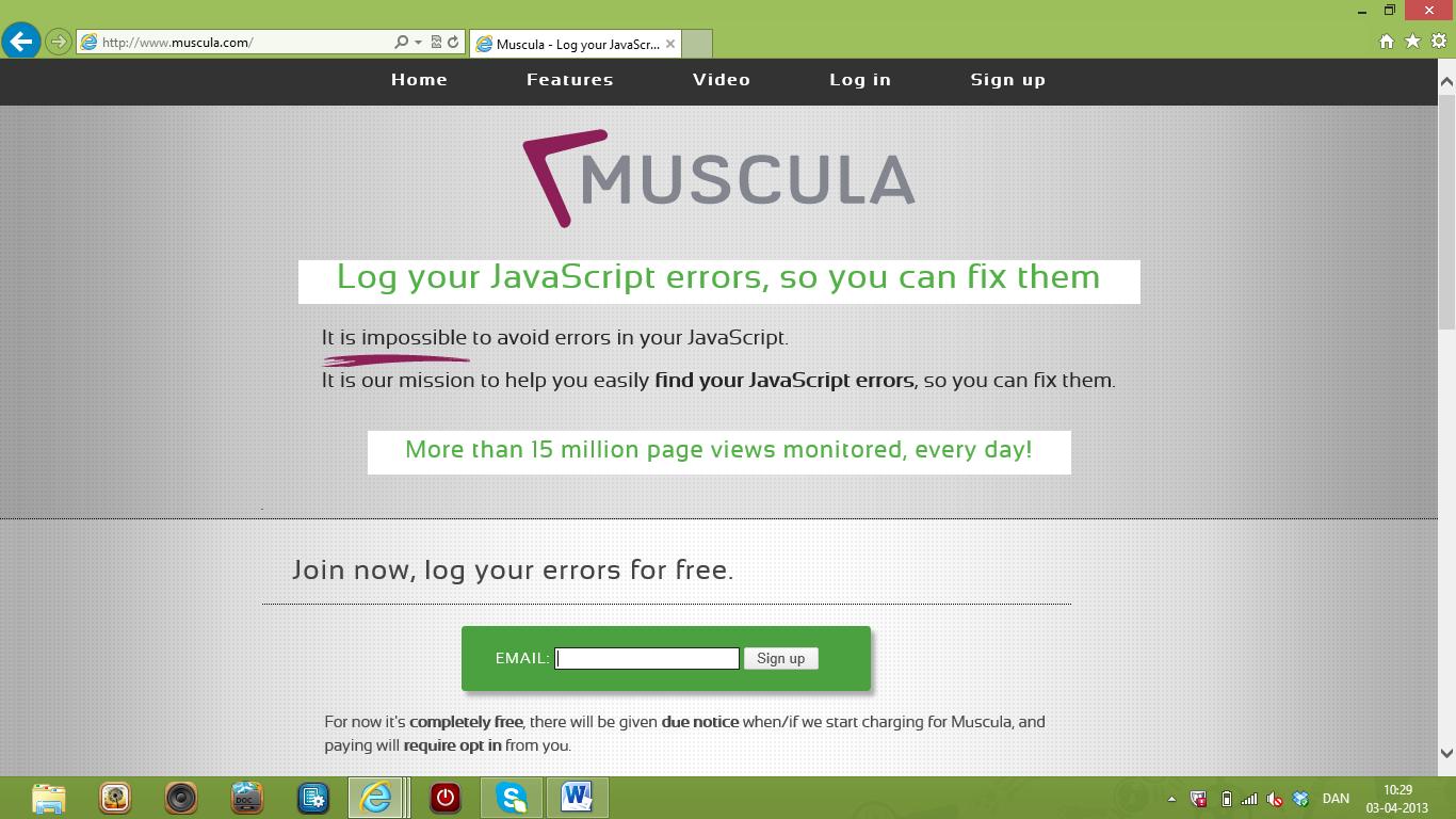 Log og ret dine JavaScript-fejl med Muscula