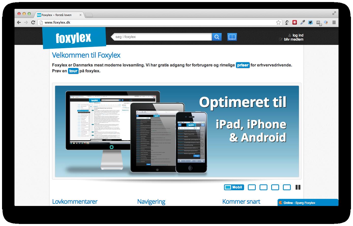 Foxylex.dk moderniserer den danske lovsamling
