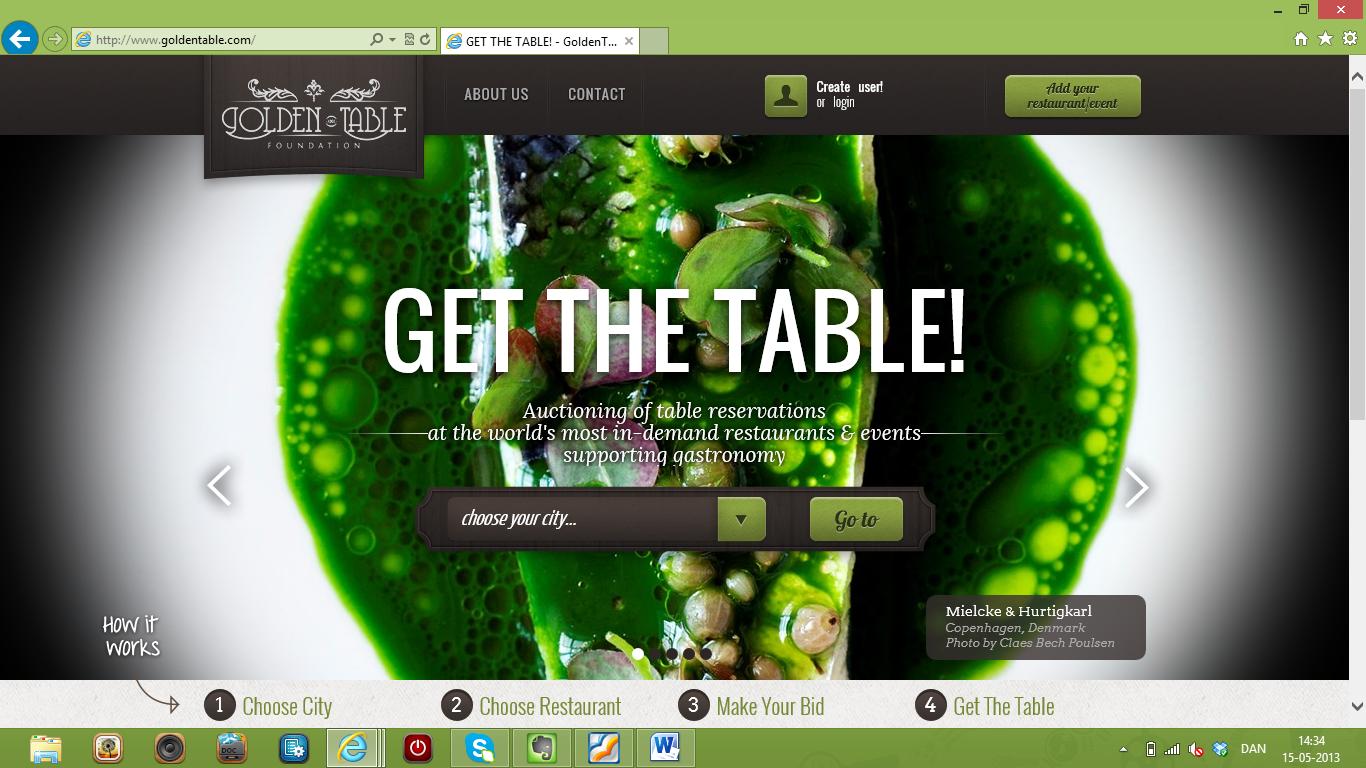 Få bord på verdens bedste restauranter med GoldenTable.com