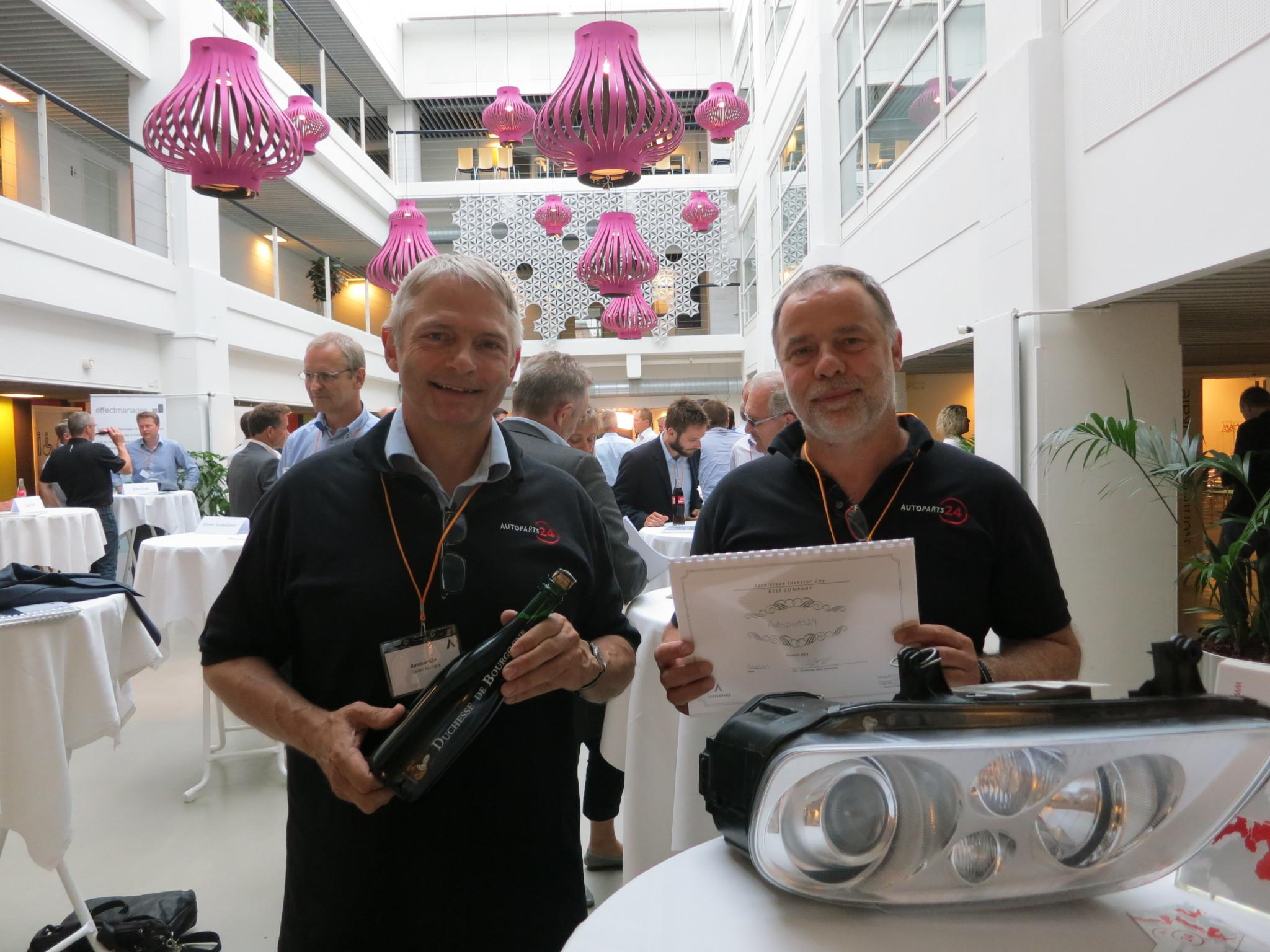 Autoparts24 vinder pris for bedste startup ved Accelerace Investor Day