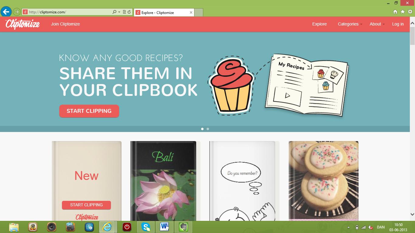 Lav online clipbooks med Cliptomize