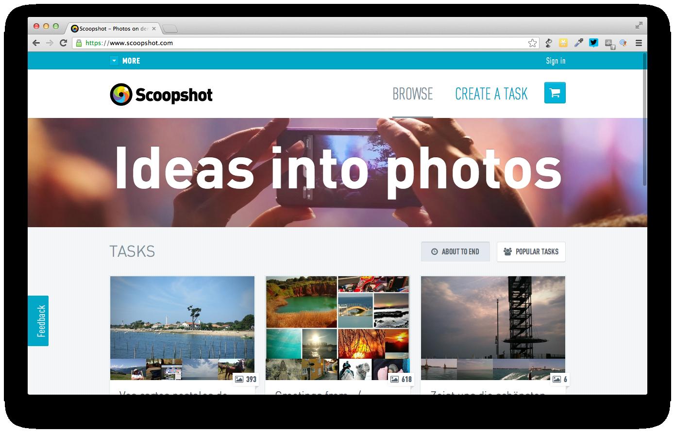 Disrupt en eksisterende industri – gør som Scoopshot