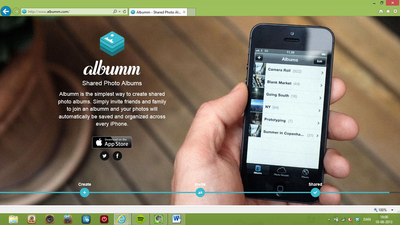Nem og hurtig fotodeling på mobilen med Albumm