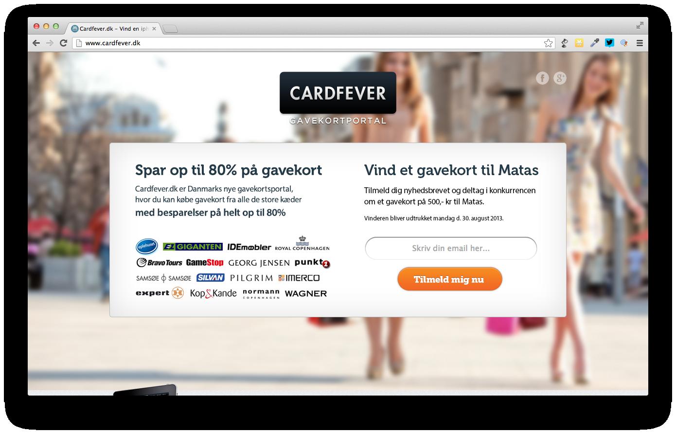 Køb og sælg ubrugte gavekort på Cardfever.dk