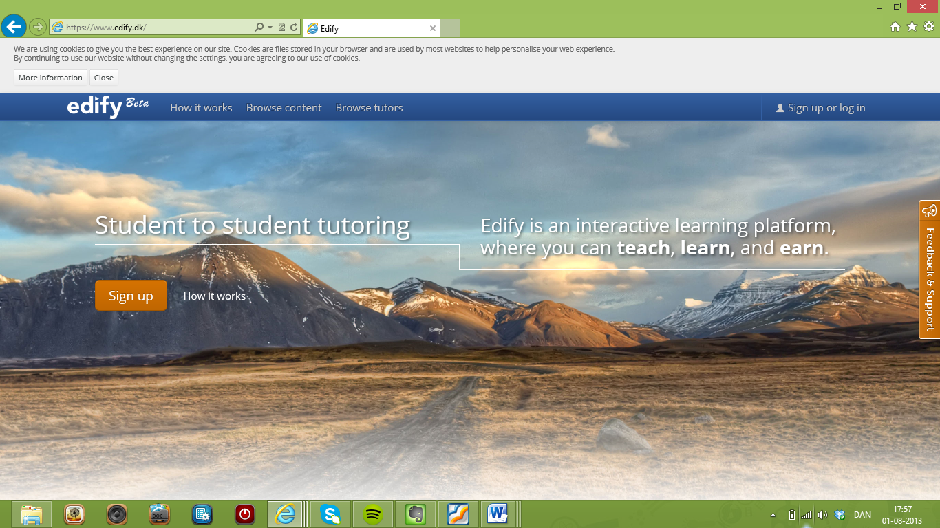 Edify – online undervisningsportal for studerende