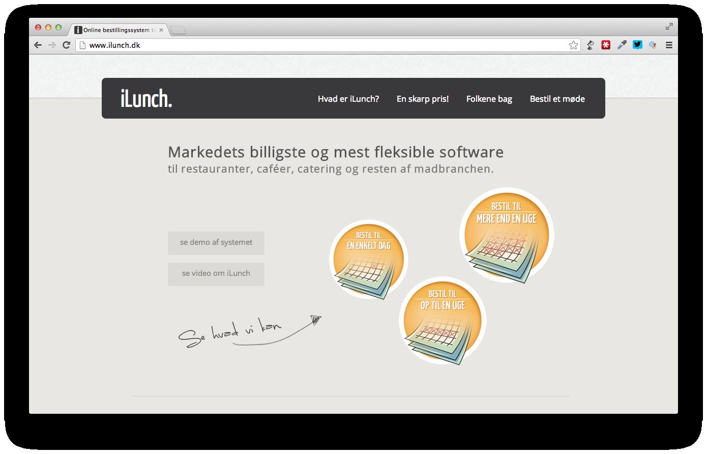 Det danske startup iLunch krydrer madbranchen med ny webtjeneste