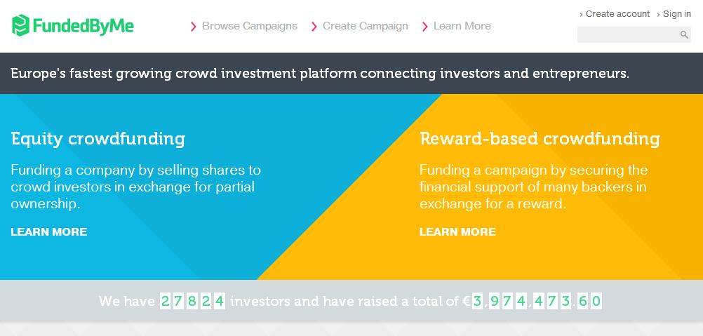 Find din investering gennem platformen FundedByMe