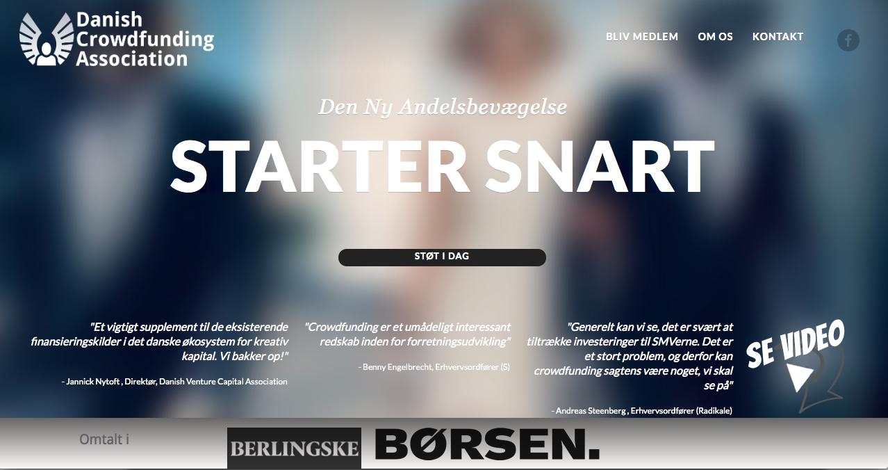 Dansk Crowdfunding Forening for bedre rammevilkår