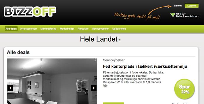 Bizzoff.dk – nyt dealsite til erhvervsdrivende