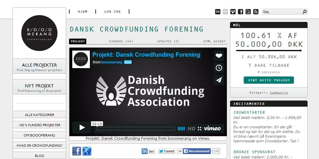 Dansk Crowdfunding Forening når sit crowdfundingmål