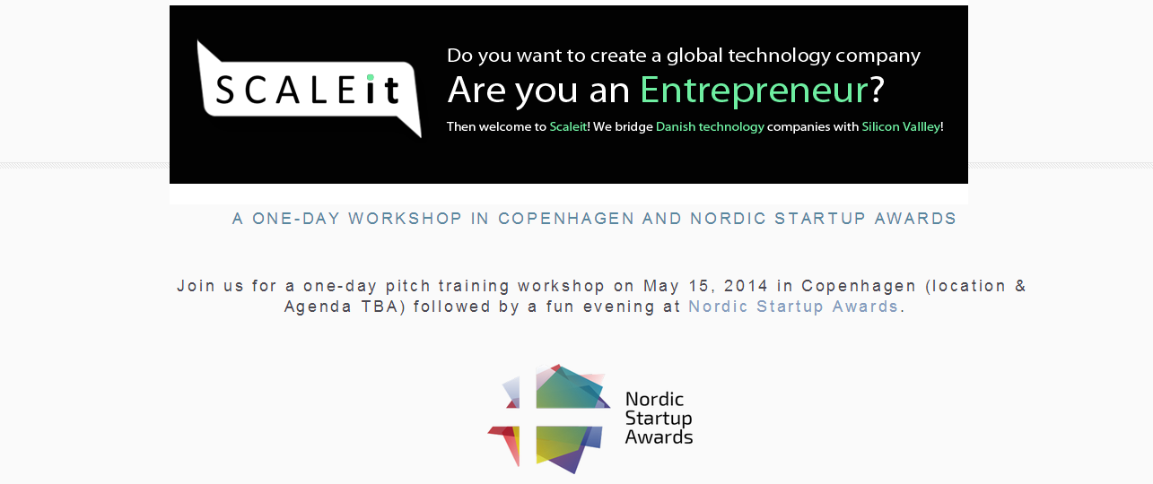 ScaleIT & Nordic Startup Awards workshop