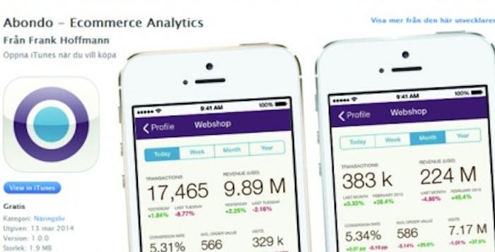 Analyseappen Abondo roses af flere e-detailhandlere