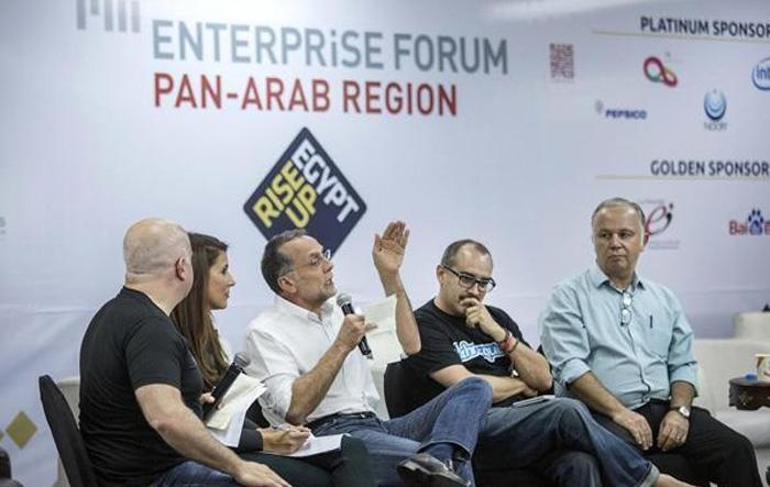 Chris Schroeder,  Hala Fadel, Fadi Ghandour, Dave Mcclure og Ahmed Alfi