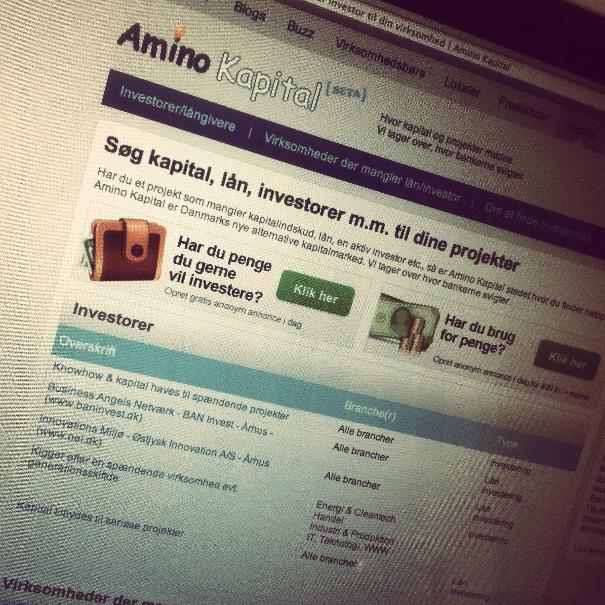 Amino.dk og Martin Thorborg tilbyder kapital