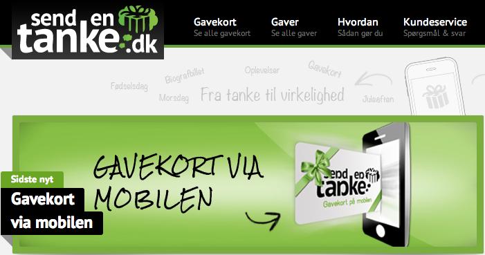 Det går godt for gavekort-konceptet Sendentanke.dk 16 måneder efter opstarten.