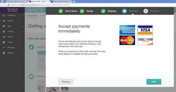 Yahoo payment