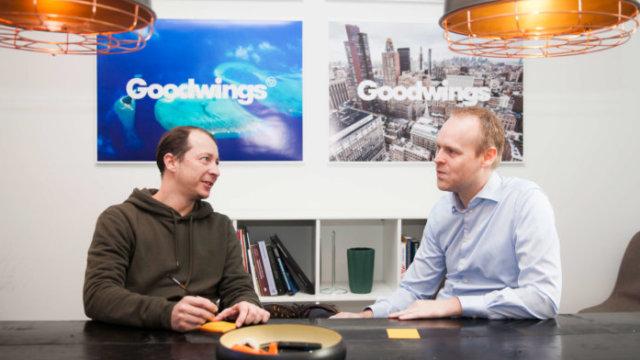 Rasmus Brobøl og CTO i Goodwings Kim Koldtoft til højre